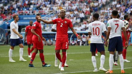 Michael Murillo, pemain Panama saat melawan Inggris di Piala Dunia 2018. - INDOSPORT