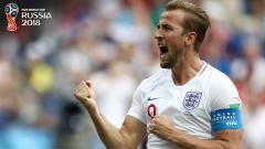 Indosport - Penyerang Inggris, Harry Kane, merayakan g   olnya ke gawang Panama.