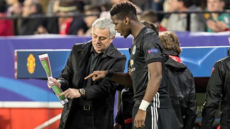 Jose Mourinho dan Paul Pogba di Manchester United - INDOSPORT