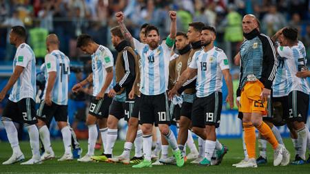 Skuat Argentina. - INDOSPORT