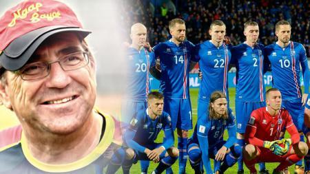 Robert Rene Alberts mendukung skuat Islandia. - INDOSPORT