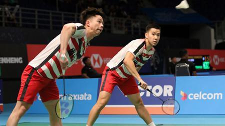 Kevin dan Marcus di Malaysia Open 2018. - INDOSPORT