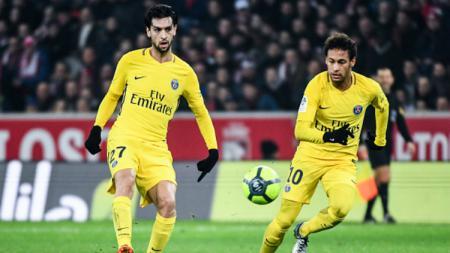 Neymar dan Javier Pastore ketika masih di Paris Saint-Germain. - INDOSPORT