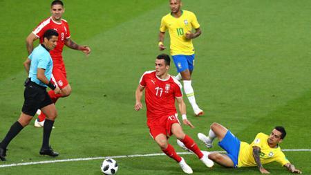 Serbia vs Brasil. - INDOSPORT