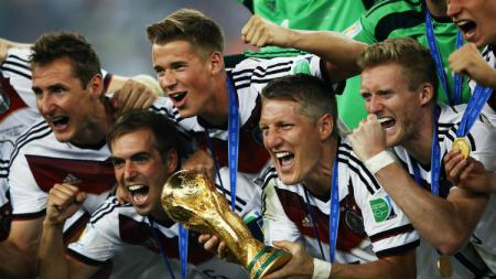 Tiga sosok sentral Tim Nasional Jerman 2014 Klose, Schweinsteiger, dan Lahm. - INDOSPORT