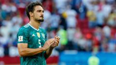 Indosport - Mats Hummels usai laga Jerman vs Korea Selatan di Piala Dunia 2018.