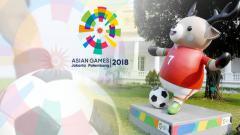 Indosport - Atung maskot Asian Games cabor sepakbola.