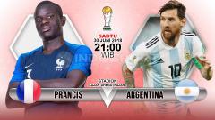 Indosport - Prediksi Prancis vs Argentina