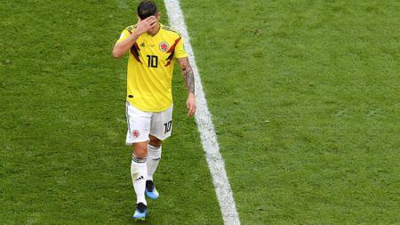 James Rodriguez, saat membela Timnas Kolombia. - INDOSPORT