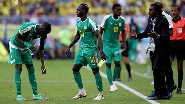 Timnas Senegal saat melakoni laga terakhir melawan Kolombia. Copyright: INDOSPORT