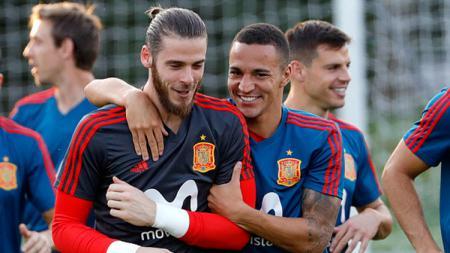 Rodrigo Moreno (kanan) menjadi incaran anyar dari rival sekota klub masa mudanya, Real Madrid, yakni Atletico - INDOSPORT
