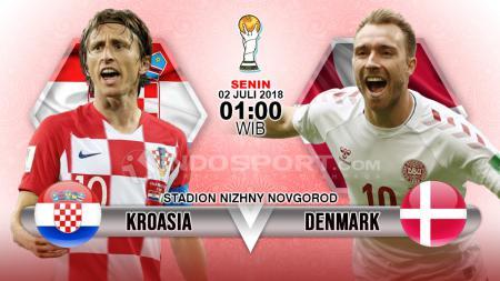 Kroasia vs Denmark. - INDOSPORT