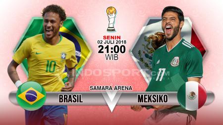 Brasil vs Meksiko. - INDOSPORT