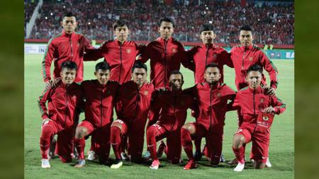 Timnas U-19 saat berhadapan dengan Laos di Piala AFF U-18 2018. - INDOSPORT