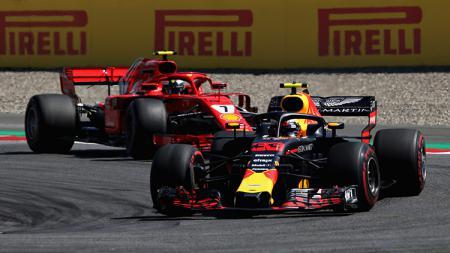 Max Verstappen menjadi juara di GP Austria. - INDOSPORT