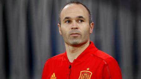 Andres Iniesta saat membela Timnas Spanyol di Piala Dunia 2018. - INDOSPORT
