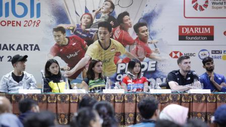 Jumpa Pers Top Atlet Luar Negeri Jelang Indonesia Open 2018