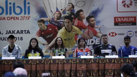 Jumpa Pers Top Atlet Luar Negeri Jelang Indonesia Open 2018.