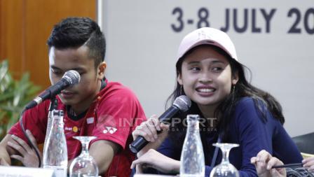 Anthony Sinisuka Ginting dan Rizki Amelia Pradipta.
