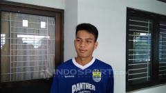 Indosport - Muhammad Wildan Ramdani striker muda Persib Bandung.