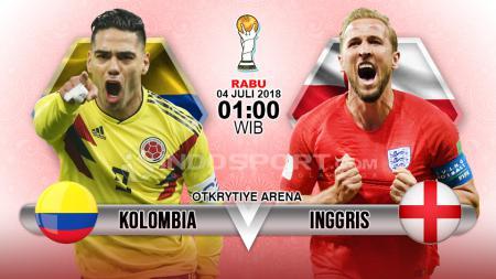 Kolombia vs Inggris. - INDOSPORT