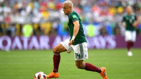 Striker Meksiko Javier 'Chicarito' Hernandez di Piala Dunia 2018. - INDOSPORT