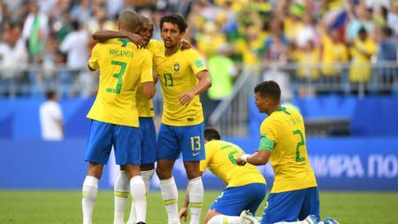 Brasil sukses melaju ke babak 8 besar Piala Dunia 2018. - INDOSPORT
