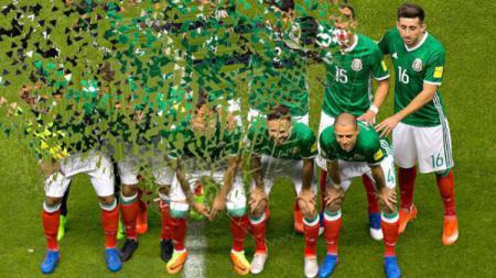 Ilustrasi Meksiko tersingkir di Piala Dunia 2018. - INDOSPORT