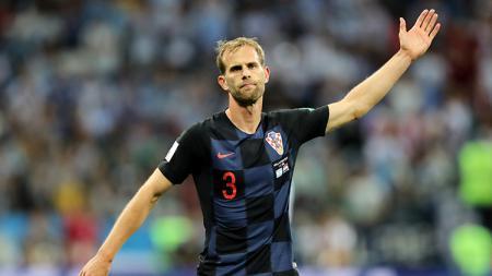 Ivan Strinic saat tampil membela Kroasia di Piala Dunia 2018, dan juga bek AC Milan. - INDOSPORT