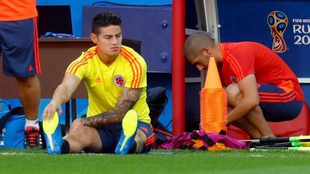 James Rodriguez 'diasingkan' dari skuat Kolombia karena cedera. - INDOSPORT