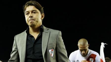 Pelatih Rivel Plate, Marcelo Gallardo, memberi jawaban mengejutkan terkait rumor bahwa dirinya tengah jadi incaran Barcelona untuk gantikan Ernesto Valverde. - INDOSPORT