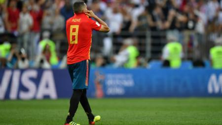 Salah satu gelandang Spanyol, Koke merasa sedih usa tersingkir dari Piala Dunia 2018. - INDOSPORT