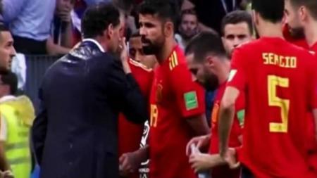 Fernando Hierro berdebat dengan Diego Costa. - INDOSPORT