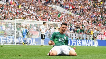 Hirving Lazano, penyerang Meksiko yang mencetak gol tunggal ke gawang Jerman. - INDOSPORT
