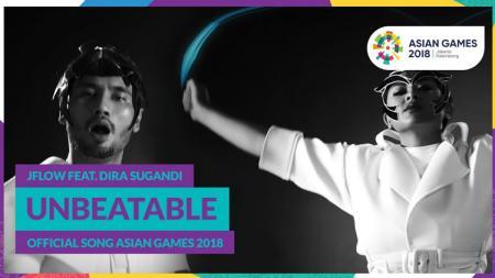 Unbeatable lagu resmi Asian Games 2018 yang dibawakan oleh Jflow feat Dira Sugandi. - INDOSPORT