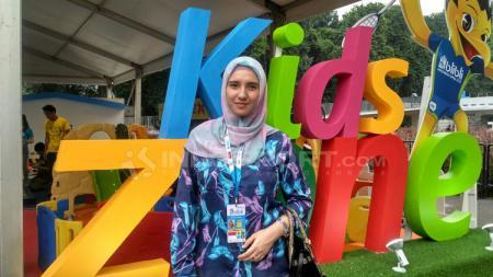 Michelle Harminc, istri pebulutangkis Indonesia, Tontowi Ahmad. - INDOSPORT