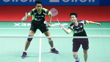 Tontowi Ahmad/Liliyana Natsir di babak pertama Indonesia Open 2018. - INDOSPORT