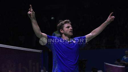Brice Leverdes menjawab sejumlah pertanyaan cepat dari INDOSPORT di sela-sela mengikuti Indonesia Masters 2020. - INDOSPORT