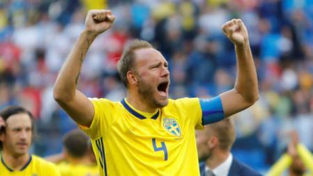 Andreas Granqvist, bek tengah Swedia. - INDOSPORT