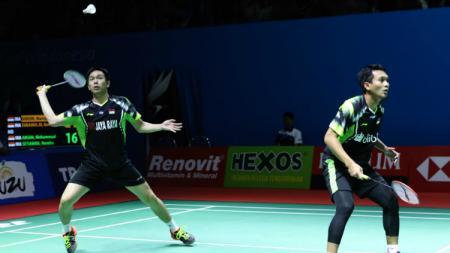 Hendra Setiawan/Mohammad Ahsan di Indonesia Open 2018. - INDOSPORT