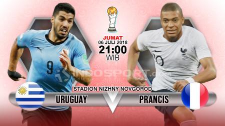 Uruguay vs Prancis. - INDOSPORT