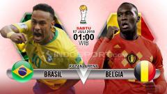Indosport - Brasil vs Belgia.