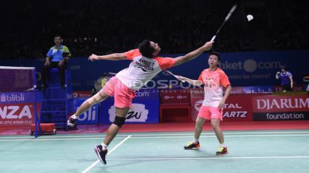 Tontowi Ahmad/Liliyana Natsir ketika bertanding melawan ganda campuran asal Jepang, Yugo Kobayashi/Misaki Matsutomo, di Indonesia Open 2018, Kamis (05/07/18). Herry Ibrahim/INDOSPORT - INDOSPORT