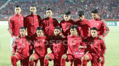 Indosport - Timnas Indonesia U19 saat akan berhadapan dengan Filipina U19.