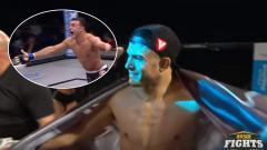 Indosport - Berkat kuasa Tuhan, petarung Mixed Martial Arts (MMA), Nick Newell mampu mengalahkan lawannya meski hanya memiliki satu tangan saja.