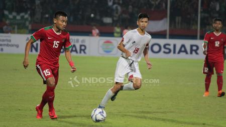 Penampilan Sadil Ramdani saat menghadapi Filipina U-19, pada lanjutan Piala AFF U-18. Kamis (5/7/18). - INDOSPORT