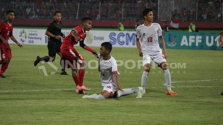 Selebrasi Todd Rivaldo usai membobol gawang Filipina U-19. - INDOSPORT