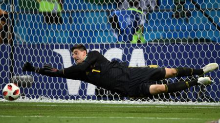 Thibaut Courtois vs Brasil - INDOSPORT