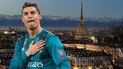 Indosport - Kota Turin dengan Cristiano Ronaldo.