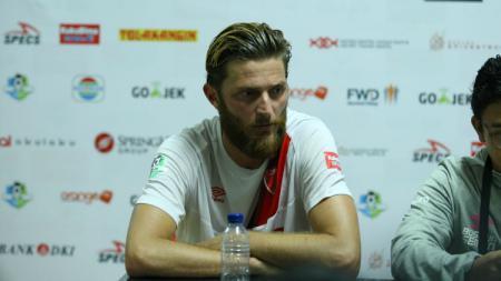 Steven Paulle dalam konferensi pers usai laga Persija Jakarta vs PSM Makassar. - INDOSPORT